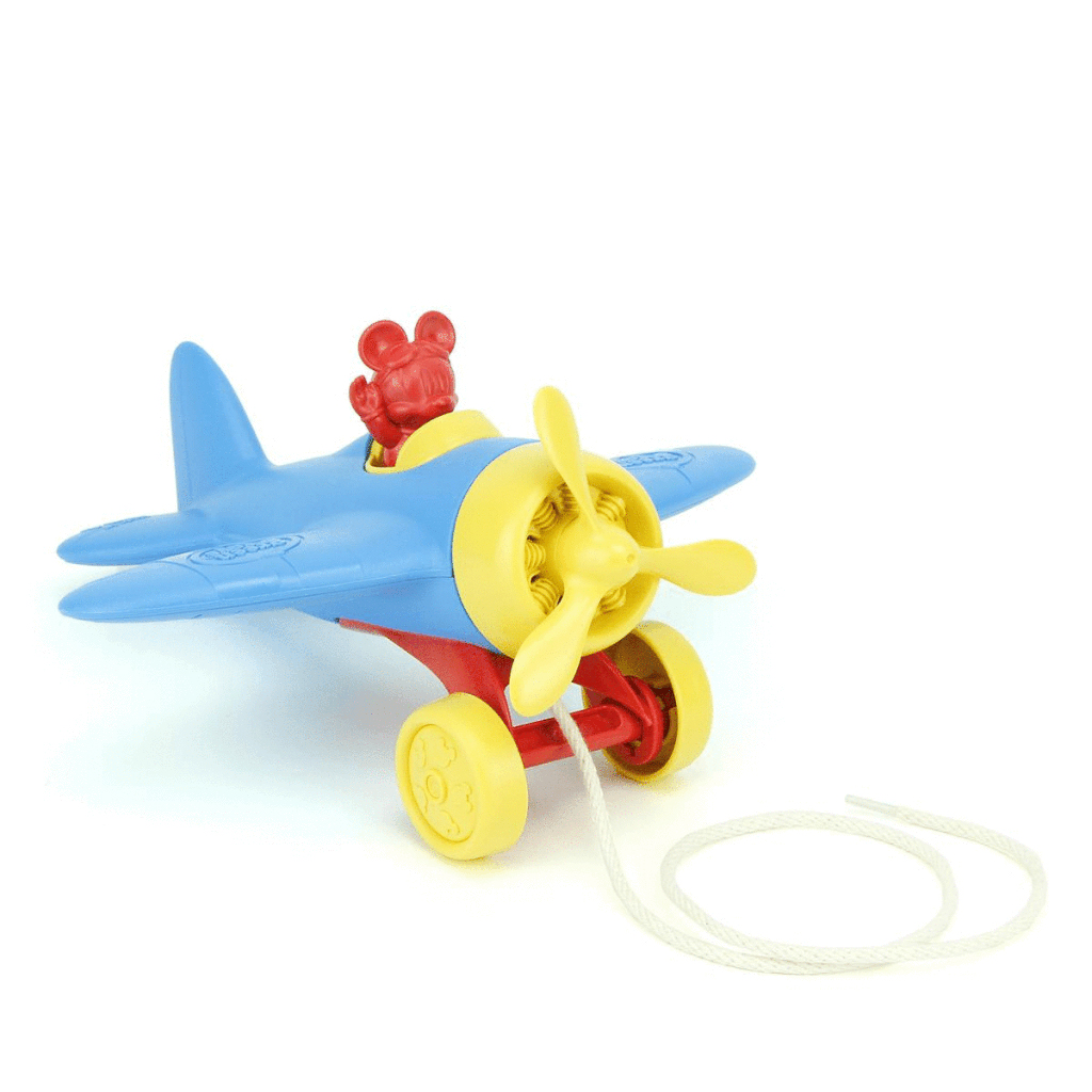 Disney Baby Mickey Mouse Airplane Pull Toy 1