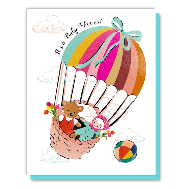 Baby Shower Parachute Card 1