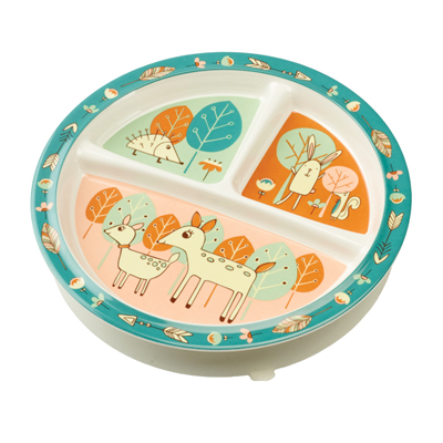 Baby Deer divided suction cup plate 1
