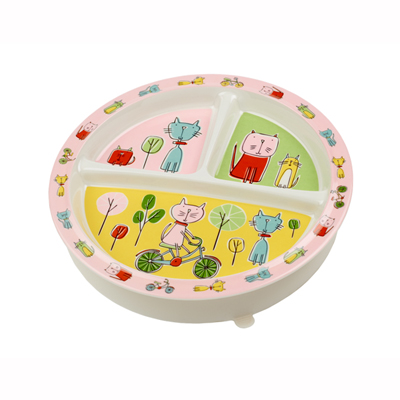 Go Kitty Go divided suction cup plate 1