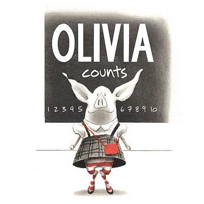 Olivia Counts by Ian Falconer - Board Book 1