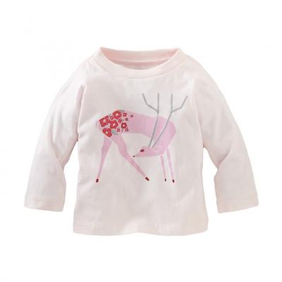Plum Blossom deer shirt - 6-12 months 1
