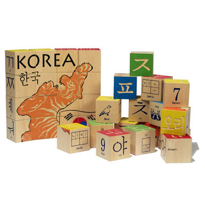 Korean Character Blocks by Uncle Goose 1