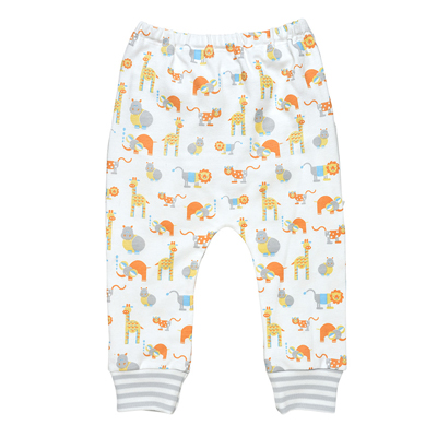 Safari animal print organic pants 1