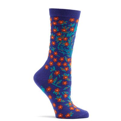 Violet Turkish Flower womens socks 1