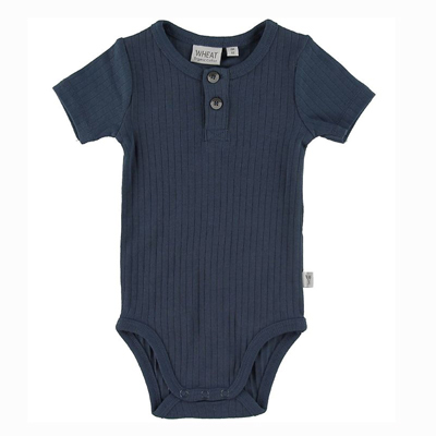 Indigo placket onesie 1