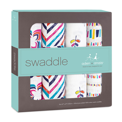 Flip side set of 4 classic muslin swaddles 2