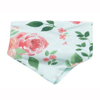 Rose Garden muslin bandana bib 1