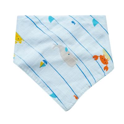 Sea stripes muslin bandana bib 1