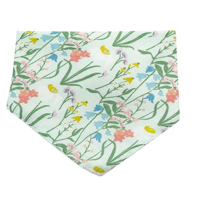 Summer morning muslin bandana bib 1