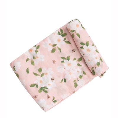Magnolia bamboo muslin swaddle blanket 1
