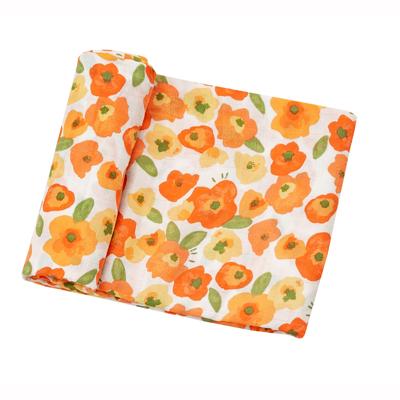 Poppies muslin swaddle blanket 1