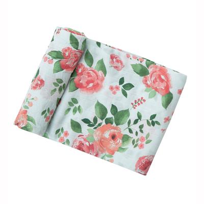 Rose Garden muslin swaddle blanket 1