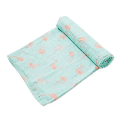 Flamingo muslin swaddle blanket 1
