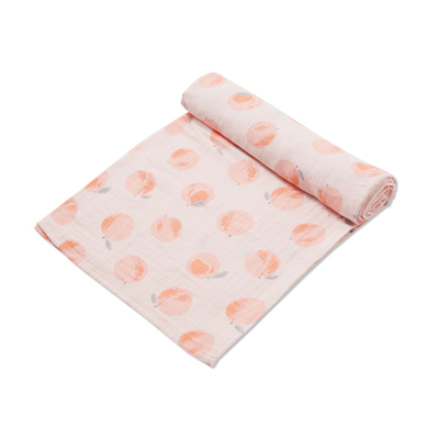 Peachy muslin swaddle blanket 1