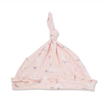 Pink Bunnies bamboo hat 0-3 months 1
