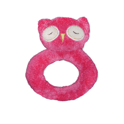 Pink Owl Ring Rattle 1