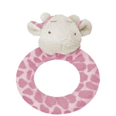 Pink Giraffe ring rattle 1