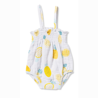 Pineapple muslin sunsuit - 3-6 months 1