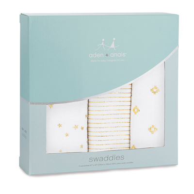 Glitter metallic classic swaddles (3-pack) 1