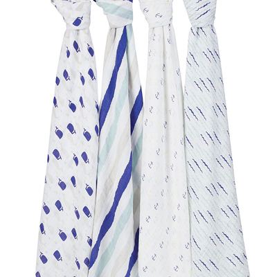 High Seas 4 pack of classic swaddles 2