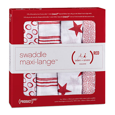 RED collection 4 pack of swaddles 1