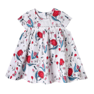 Happy Flowers mini zander dress 1
