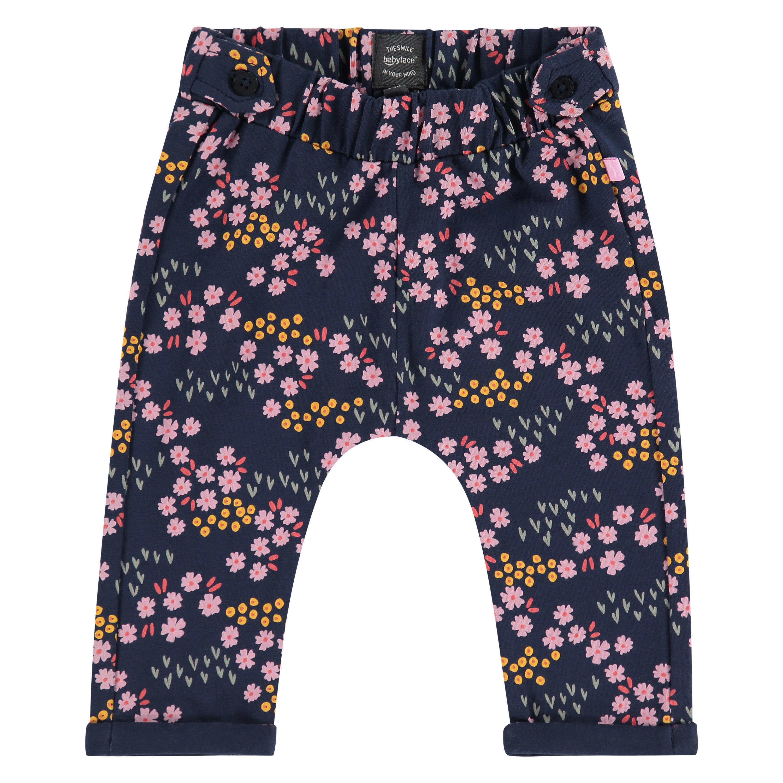 Blue floral baby pants 1