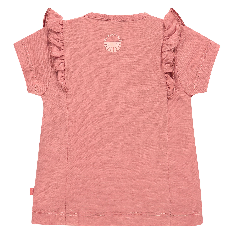 Rusty pink ruffle shirt 2
