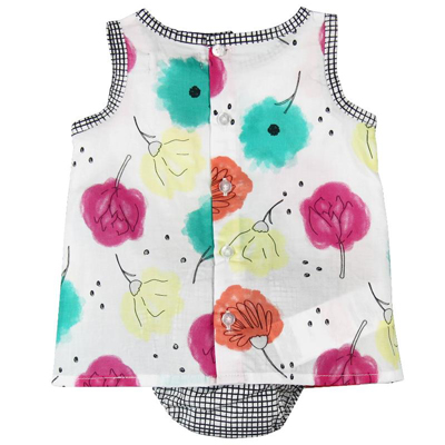 Bright floral dress and bloomer - 6 months 2