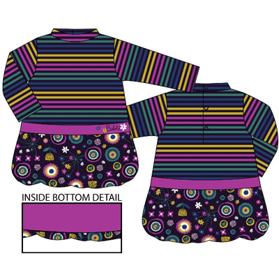 Velour striped dress by Boboli- 12 months 1