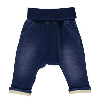 Fleece denim baby pants 1