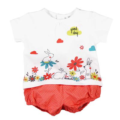 Bunny shirt and polka dot bloomer 1