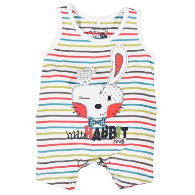 Striped sleeveless Bunny romper 1