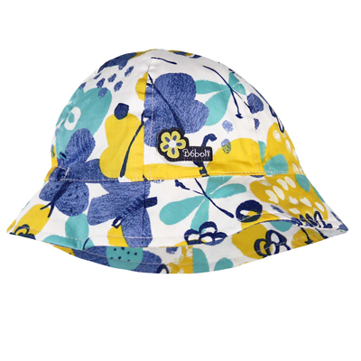 Blue and yellow butterfly hat 1