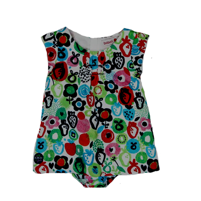 Fruit dress with bloomer - 2T 1