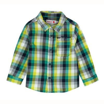 Green plaid shirt - 18 months 1