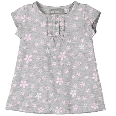 Grey and pink print dress 1
