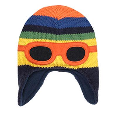 Stripe goggle hat 1