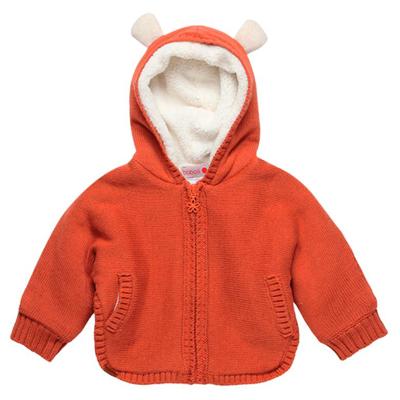 Orange lined jacket 1