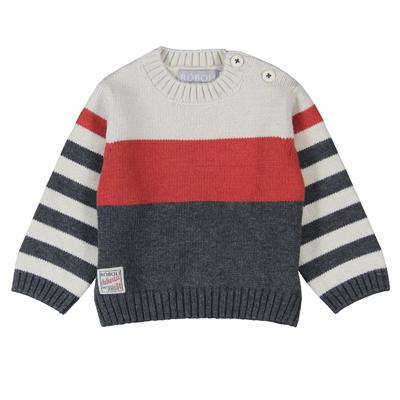 Orange and grey sweater 1