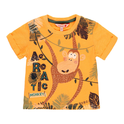 Orange Monkey shirt - 3 1