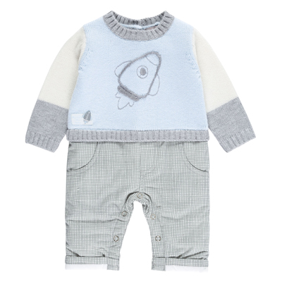 Blue rocket one piece playwear - 6 months 1