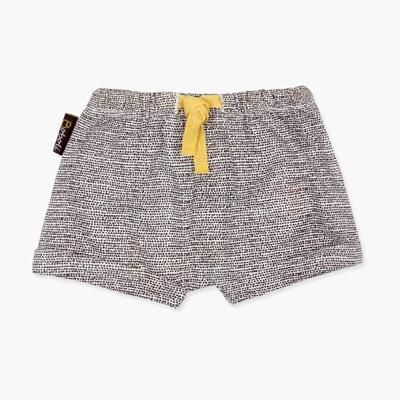 Brown dot baby shorts 1