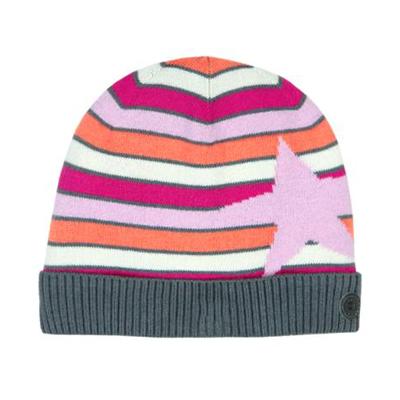 Pink stripe star hat 1