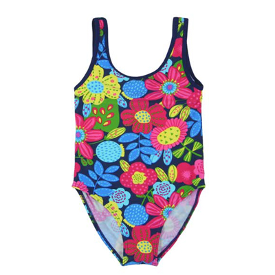 Bright floral swimsuit 1