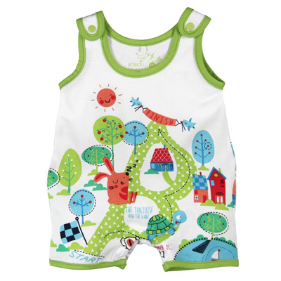 Tortoise and the Hare romper 1