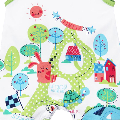 Tortoise and the Hare romper 2