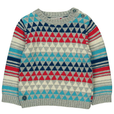 Triangle baby sweater 1