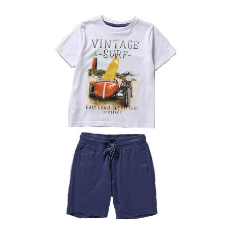 Vintage shirt and short set - 8 1